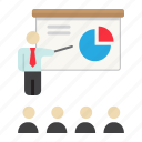 business, education, lecture, presentation, speaker, teacher, training icon