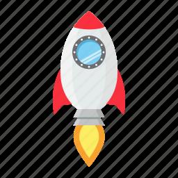 business, idea, marketing, rocket, space, start, up icon