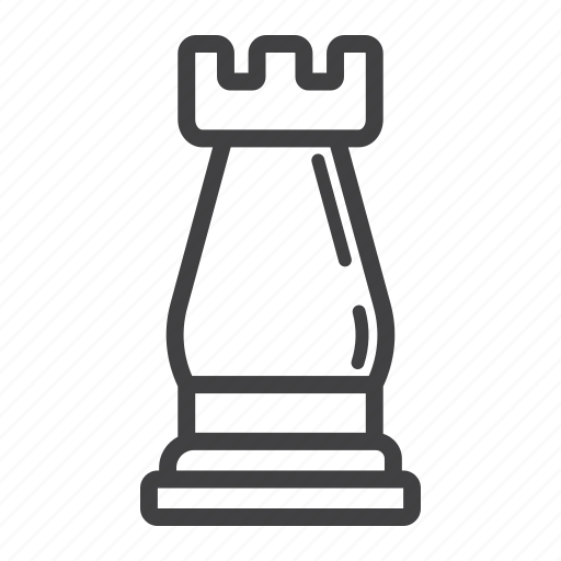 business, chess, figure, leadership, plan, rook, strategic icon