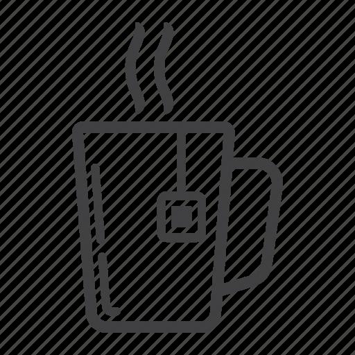 breakfast, coffee, cup, mug, office, restaurant, tea icon