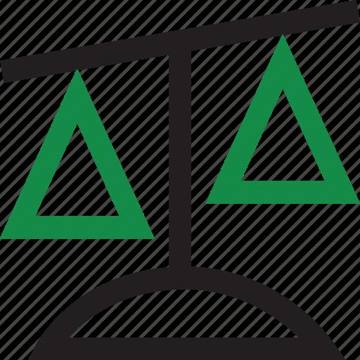 balanced, money, revenue, scale icon