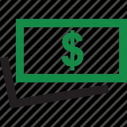 dollar, money, sign, wealth icon