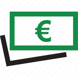 euro, money, return, sign icon