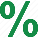 interest, percentage, rate icon