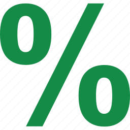 interest, percentage, rate icon