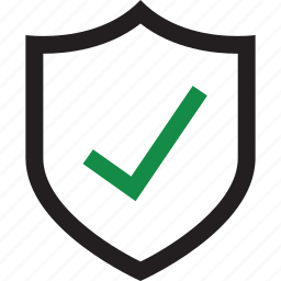 check, safe, secured, shield icon
