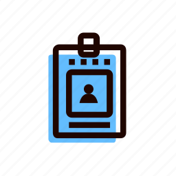 access, badge, grid, identification, pass, personality icon