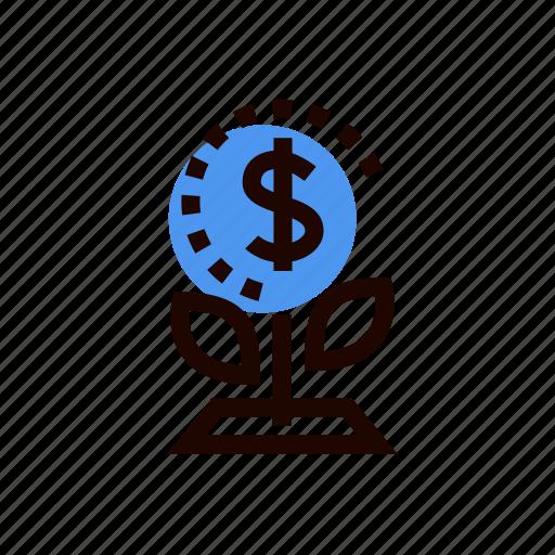 grid, money, money tree, plant, prosperity, tree icon