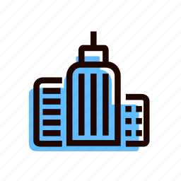 bank, building, city, grid, office icon