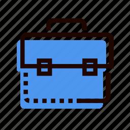 backpack, bag, briefcase, business portfolio, grid, portfolio, suitcase icon