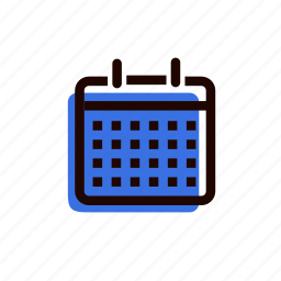 calendar, date, every day, grid, month, schedule, year icon