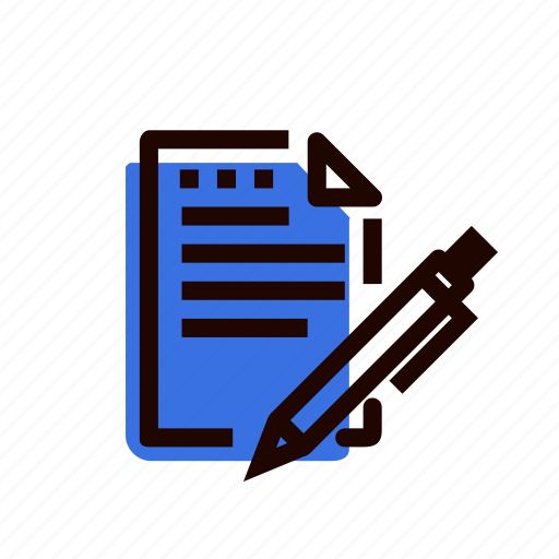 bookkeeping, contract, document, grid, paper, pen, treaty icon