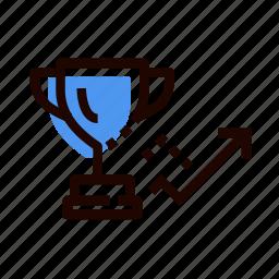 cup, grid, mission, prize, reward, victory, win icon