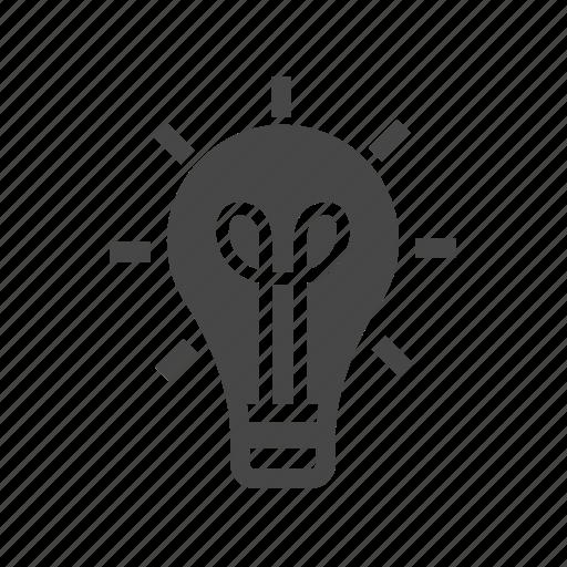 idea, lamp, light, office icon