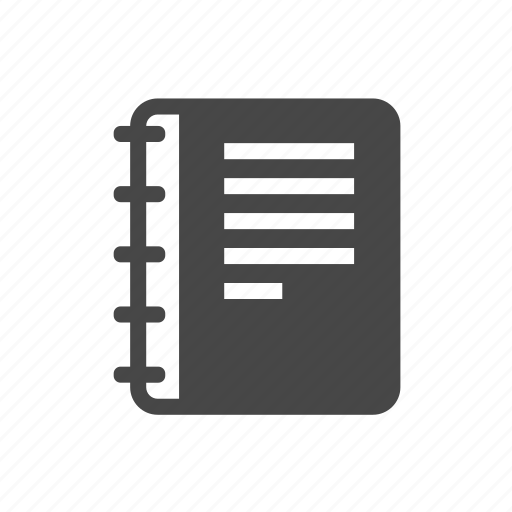 book, note, office, phone, work icon