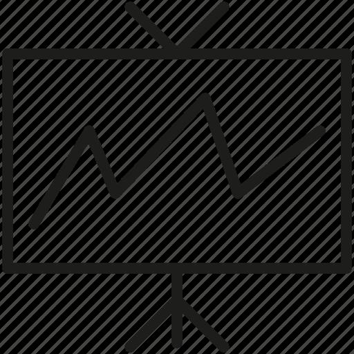 board, chart, graph, pie chart icon icon