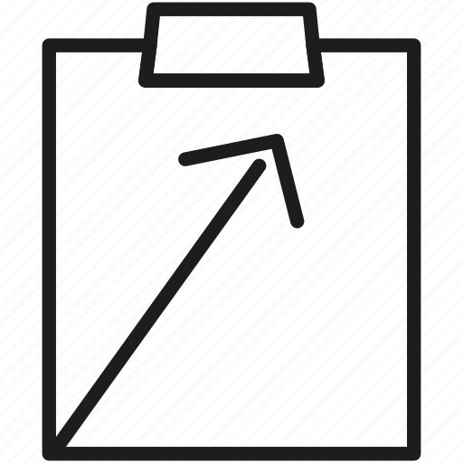 growth, paperborad, statistics icon icon