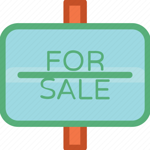 commercial sign, for sale, sale billboard, sale sign, signage icon