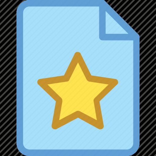 document, favorite sheet, office document, sheet, star sheet icon
