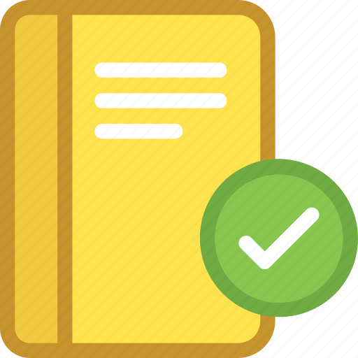 approved, diary, directory, memo, memo book icon