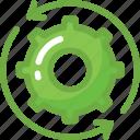 cog, cogwheel, synchronization, sync, processing icon