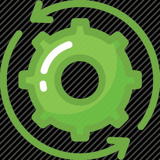 cog, cogwheel, processing, sync, synchronization icon