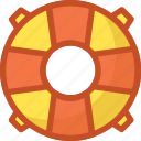 life ring, lifebuoy, lifeguard, lifesaver, ring buoy icon