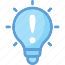 bulb, idea, info, info sign, light bulb icon