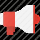 advertise, loud, megaphone, shout, speaker icon