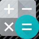 calculate, calculator, education, electronic, finance, financial icon