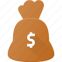 bag, bank, cash, dollar, money icon