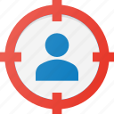 audience, customer, group, market, marketing, target icon