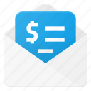 currency, envelope, finance, money, send icon