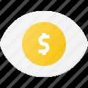 eye, money, rich, success, vision, win icon