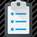 board, check, clipboard, note, office, paper, report icon