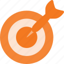 accuracy, bullseye, center, dart, goal, marketing, taget icon