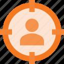 audience, customer, group, market, marketing, target icon