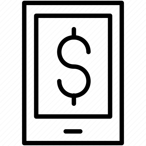 dollar, earnings, mobile, money, payment icon icon