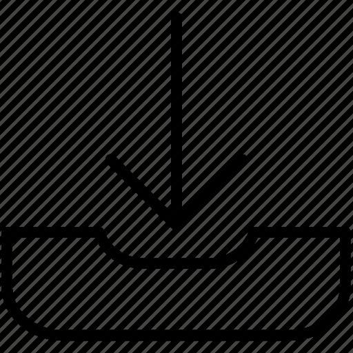 arrow, documents, down, download, file icon icon
