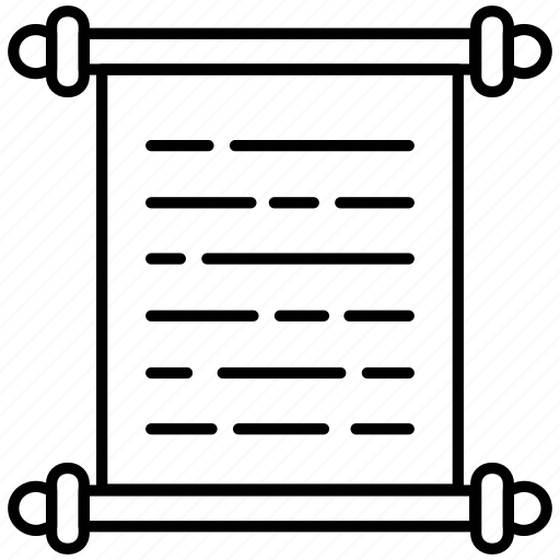 invitation, letter, mail, manuscript, old, paper, papirus icon icon