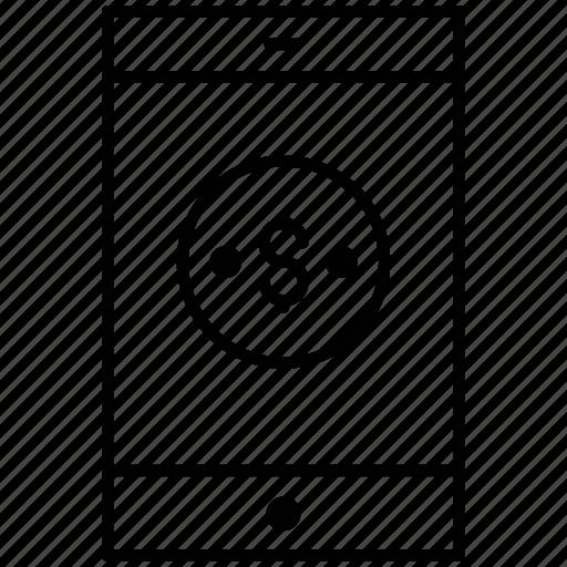 mobile, money, smartphone, withdraw icon icon