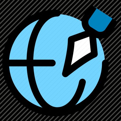 author, document, signature icon