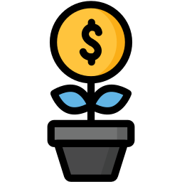 business, dollar, finance, growing, growth, money icon