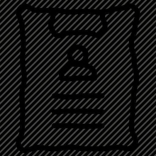 curriculum vitae, cv, employee, report icon