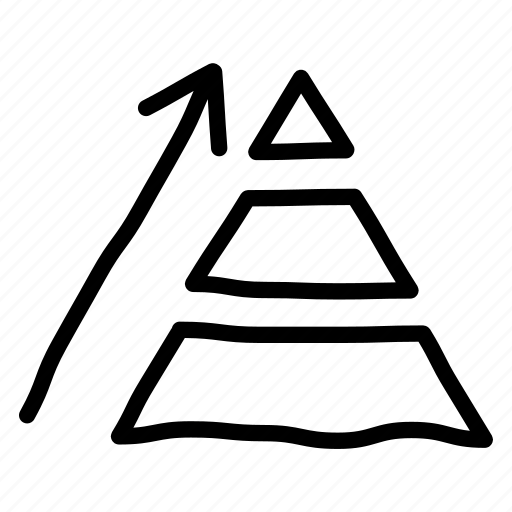 business, chart, growth, pyramide icon