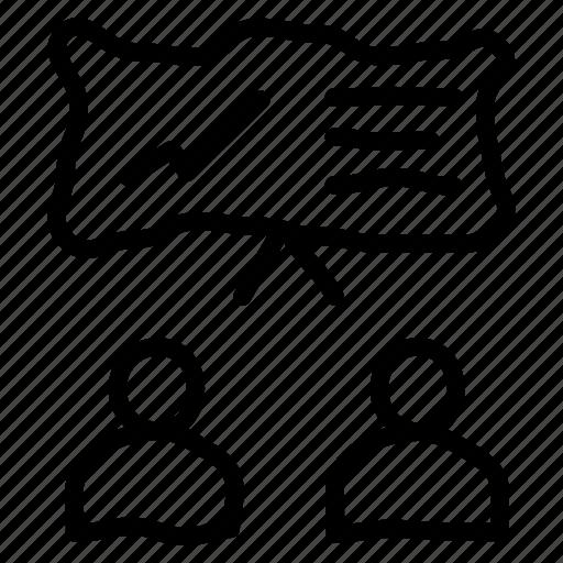 business, forex, mentoring, teaching icon