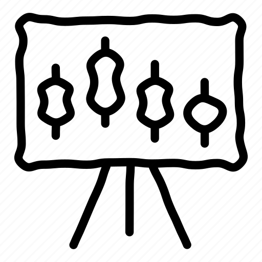 chart, forex, presentation, stocks icon