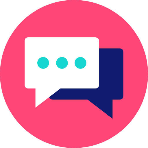 chat, communication, conversation, dialogue, help desk, message bubbles, online support icon icon