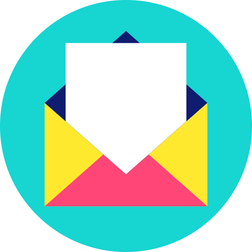 email, envelope, letter, mail, message, post icon icon