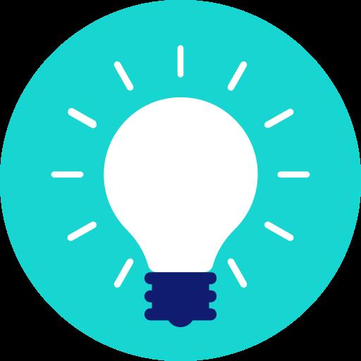 bulb, creative, hint, idea, lamp, light, tip icon icon